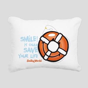 life ring smiley Rectangular Canvas Pillow