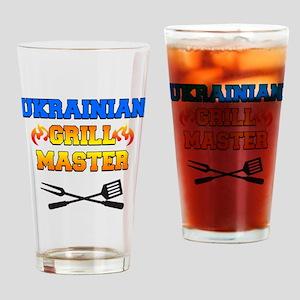 Ukrainian Grill Master Drinking Glass