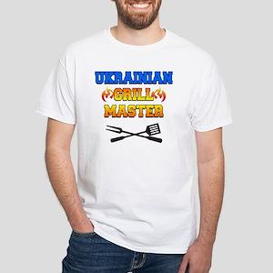 Ukrainian Grill Master White T-Shirt