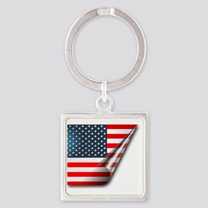 USA Square Keychain