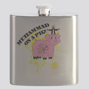 Muhammed On A Pig Flask