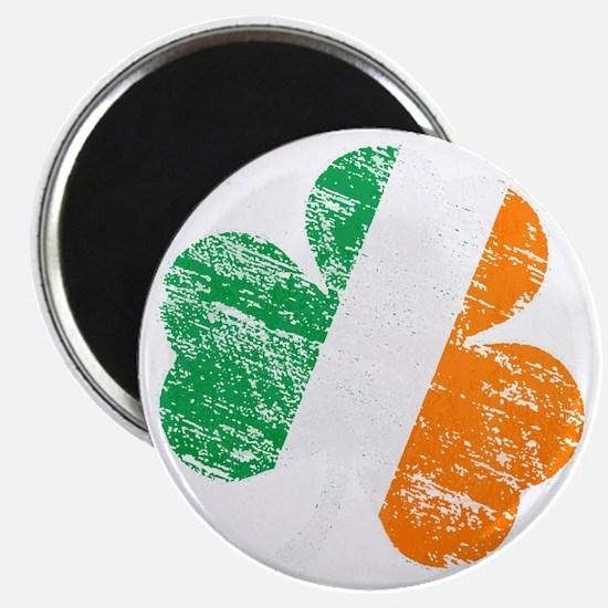 Vintage Distressed Irish Flag Shamrock Magnet