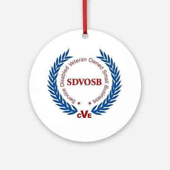 SDVOSB Logo Round Ornament