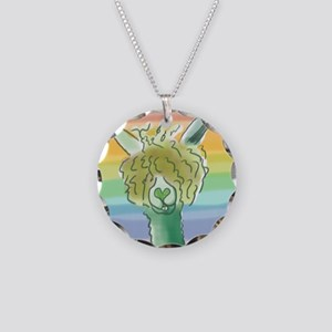 St. Patricks Alpaca? Necklace Circle Charm
