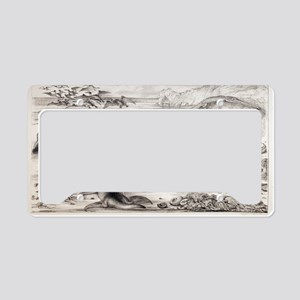 1858 Prehistoric marine repti License Plate Holder