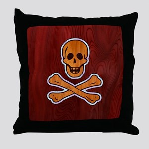 pirate-inlay-BUT Throw Pillow