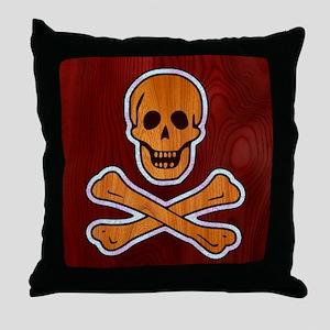 pirate-inlay-CRD Throw Pillow