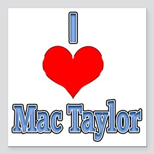 "I heart Mac Taylor Square Car Magnet 3"" x 3"""