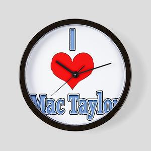 I heart Mac Taylor Wall Clock