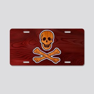 pirate-inlay-OV Aluminum License Plate