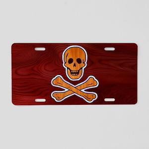 pirate-inlay-OV Aluminum License Plate