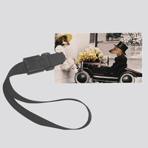 Old Fashioned Doxies Large Luggage Tag