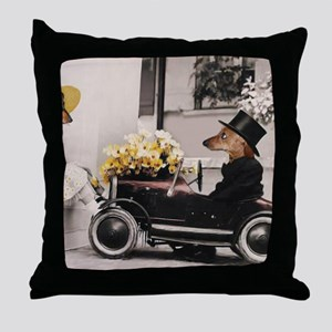 Old Fashioned Doxies Throw Pillow
