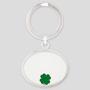 irishLiver1B Oval Keychain