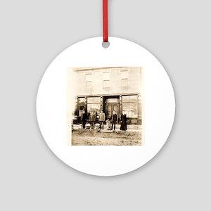 Iberia Missouri Post Office  1910s Round Ornament