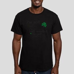 notIrishJustDrunk1D Men's Fitted T-Shirt (dark)