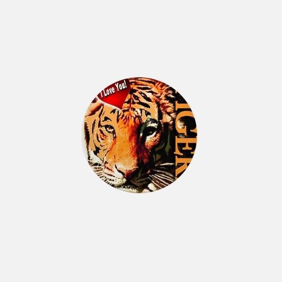 I Love You Tigers Mini Button