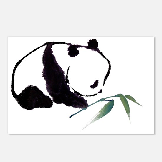 Chinese Panda art Postcards (Package of 8)