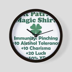 Saint Patricks Magic Shirt Wall Clock