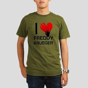 I Love Freddy Krueger Organic Men's T-Shirt (dark)