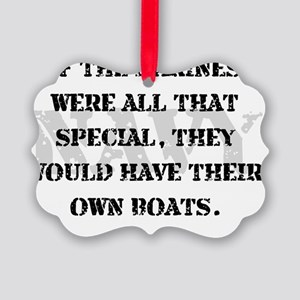 Navy Marines Boats Picture Ornament