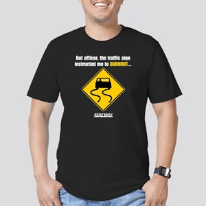 Burnout Traffic Sign 2 Men's Fitted T-Shirt (dark)