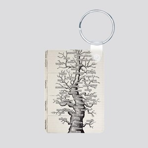 1886 French copy Haeckel ' Aluminum Photo Keychain