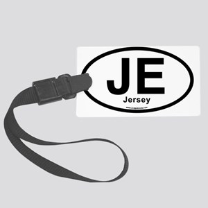 JE - Jersey oval sticker Large Luggage Tag