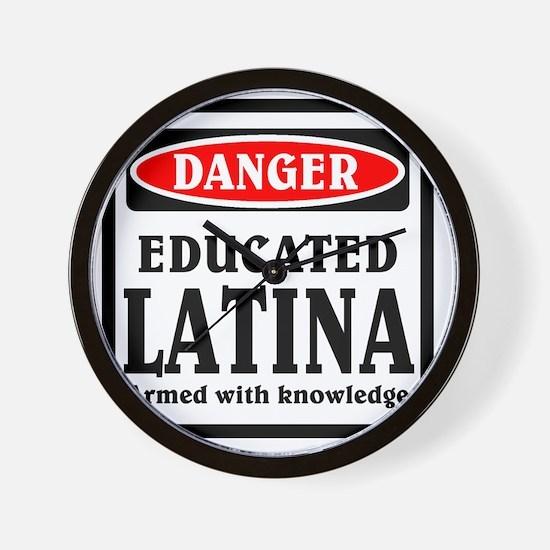 Educated Latina Wall Clock