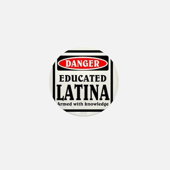 Educated Latina Mini Button