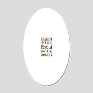 19th Century electrical equi 20x12 Oval Wall Decal