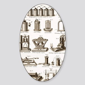 19th Century electrical equipment Sticker (Oval)