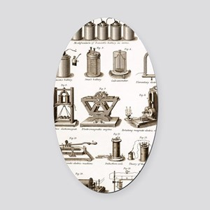 19th Century electrical equipment Oval Car Magnet