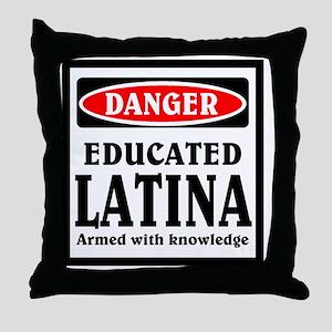 Educated Latina Throw Pillow