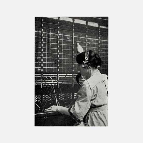 Telephone switchboard operator, 1 Rectangle Magnet