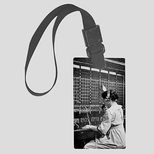 Telephone switchboard operator,  Large Luggage Tag