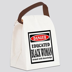Educated Black Woman Canvas Lunch Bag