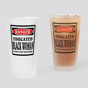 Educated Black Woman Drinking Glass