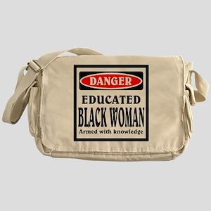Educated Black Woman Messenger Bag