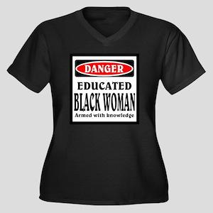 Educated Bla Women's Plus Size Dark V-Neck T-Shirt