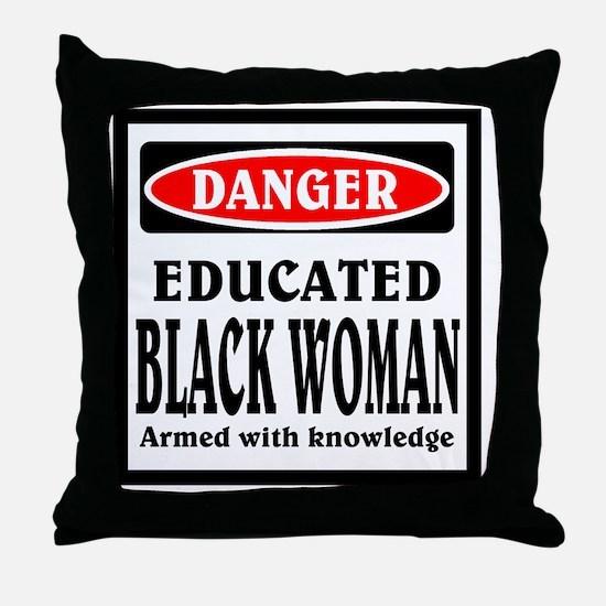 Educated Black Woman Throw Pillow