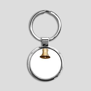 Pavlov Ring Bell Round Keychain