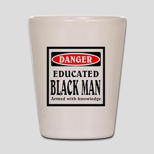 Educated Black Man Shot Glass