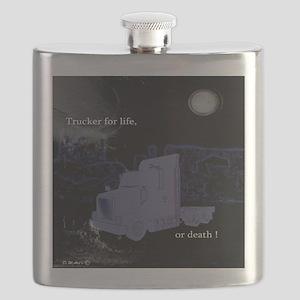 Trucker for life Flask