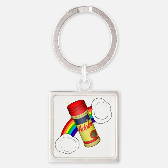 Adobo Light Square Keychain