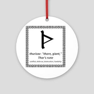 Thurisaz Round Ornament