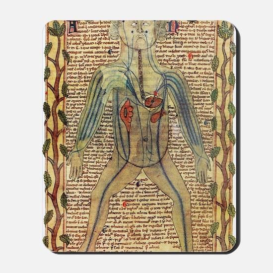 Circulatory system, 17th century Mousepad
