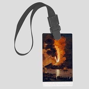 Eruption of Vesuvius, 1779 Large Luggage Tag