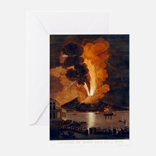 Eruption of Vesuvius, 1779 Greeting Card