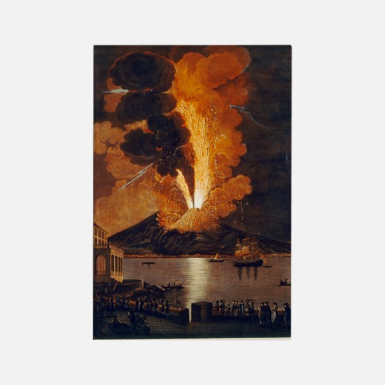 Eruption of Vesuvius, 1779 Rectangle Magnet
